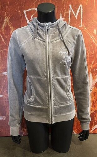"""Better Rich Woman Maglione Giacca """"JACKET HOOD Club"""" br114 Steel"""