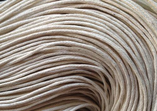 coton cire 20m fil cordon lacet 1mm beige //1.2