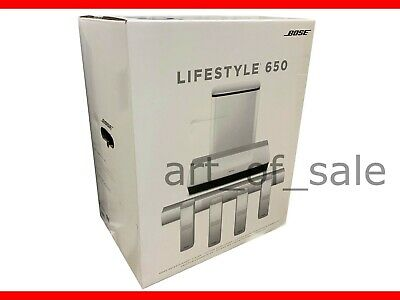 Bose Lifestyle 650 Home Entertainment System works with Alexa White NEW