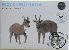 New Original wild animal 2pcs/lot muntjac couple collectible figures figurine