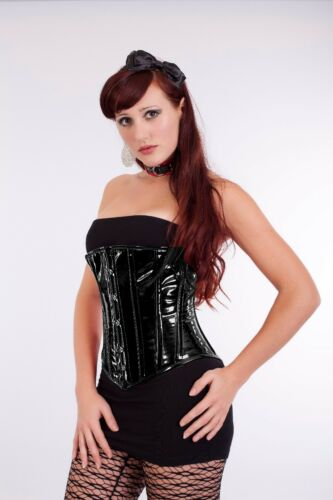under breast corset corset made of PVC Black Lacquer 34~56