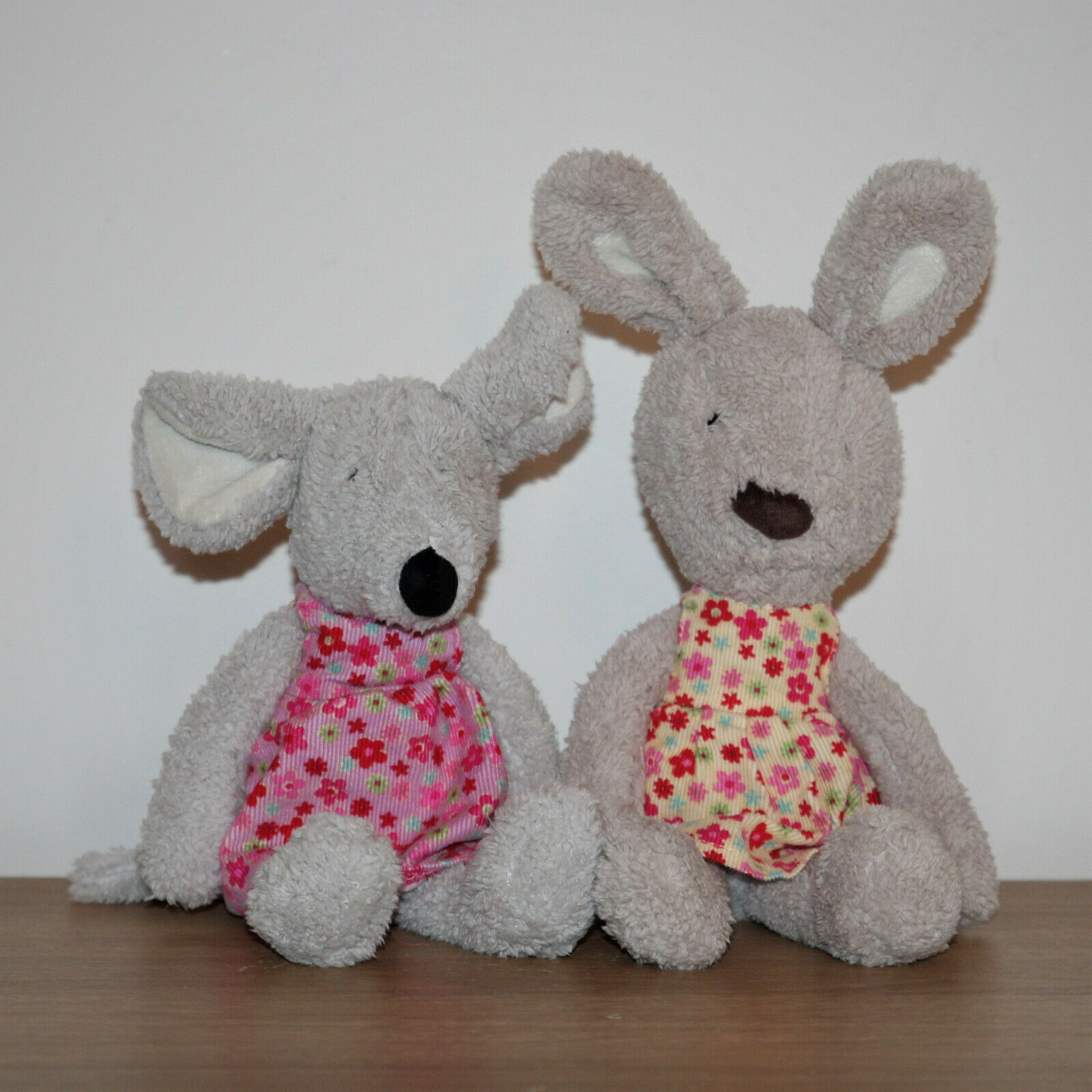 Jellycat Floral Friends - Molly Mouse & Beatrice Bunny - Soft Cuddly Toys - VGC