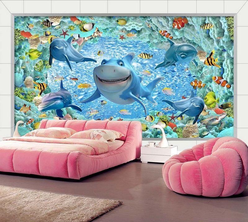 3D Parc SeaWorld 71 Photo Papier Peint en Autocollant Murale Plafond Chambre Art