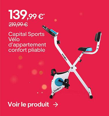 Capital Sports Vélo d'appartement confort pliable - 139,99 €*