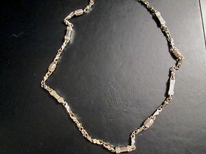 Hip-Hop-Chunky-Silvertone-Chain-Rectangular-and-Cylindrical-Links-28-034-NEW