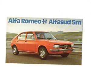 ALFA ROMEO ALFASUD M SALES BROCHURE EBay - Alfa romeo alfasud for sale
