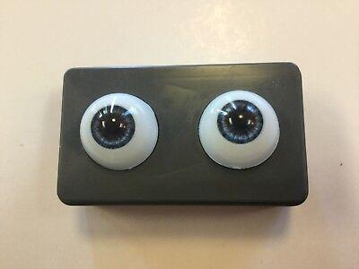 22mm Light Grey Glastic Realistic Doll Eyes