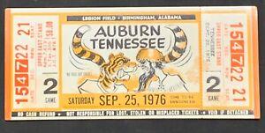 Un-Torn 1976 Auburn vs Tennessee Football Ticket Stub Un ...