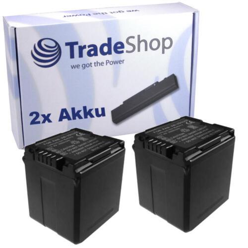 Batería 2x para Panasonic hdc-sd1 hdc-sd5 hdc-sd9 hdc-sd20 200 hdcsd sx5 con chip info