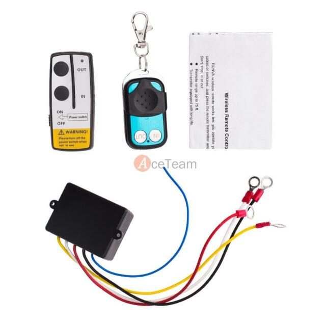 434MHz 50ft Wireless Winch Remote Control For Truck Jeep SUV ATV Warn Ramsey USA
