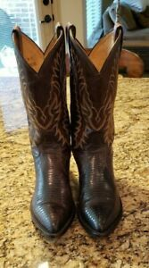 56720547585 Pre-Owned Mens Tony Lama LIZARD Cowboy Boots HARDLY WORN, POINTED ...