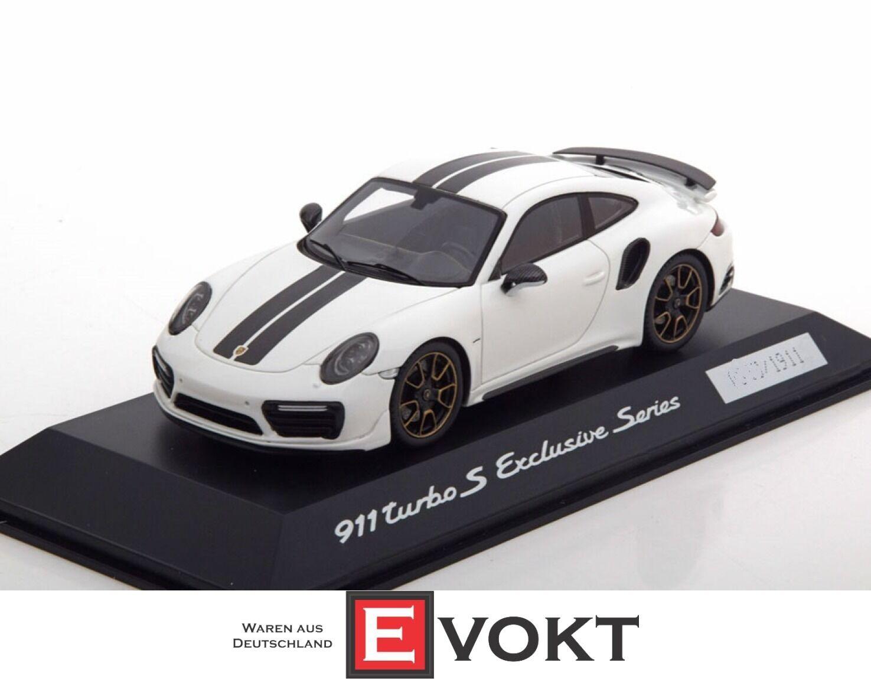 Spark WAP0209060H Porsche 911 (991) Turbo S en  blancoo Negro  1 43