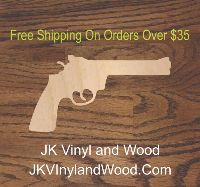 MDF craft shape Wood embellishment Wooden gun set Craft shape Cutouts Laser cut