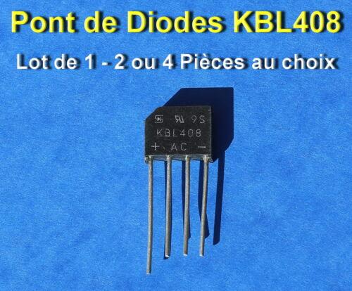 *** LOT AU CHOIX DE 1*2 OU 4 PONT DE DIODES KBL408-800V//4A ***