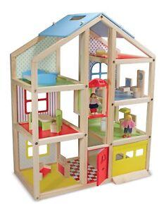 Enfants Poupée Playhouse 15 Pcs Meubles Garage Travail Ascenseur Enfant Jouet Amusant 772124621
