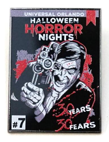 New Universal Orlando Halloween Horror Nights 30 Years Director #7 Mystery Pin