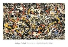 CONVERGENCE ART PRINT BY JACKSON POLLOCK Abstract Expressionist from 1952 poster
