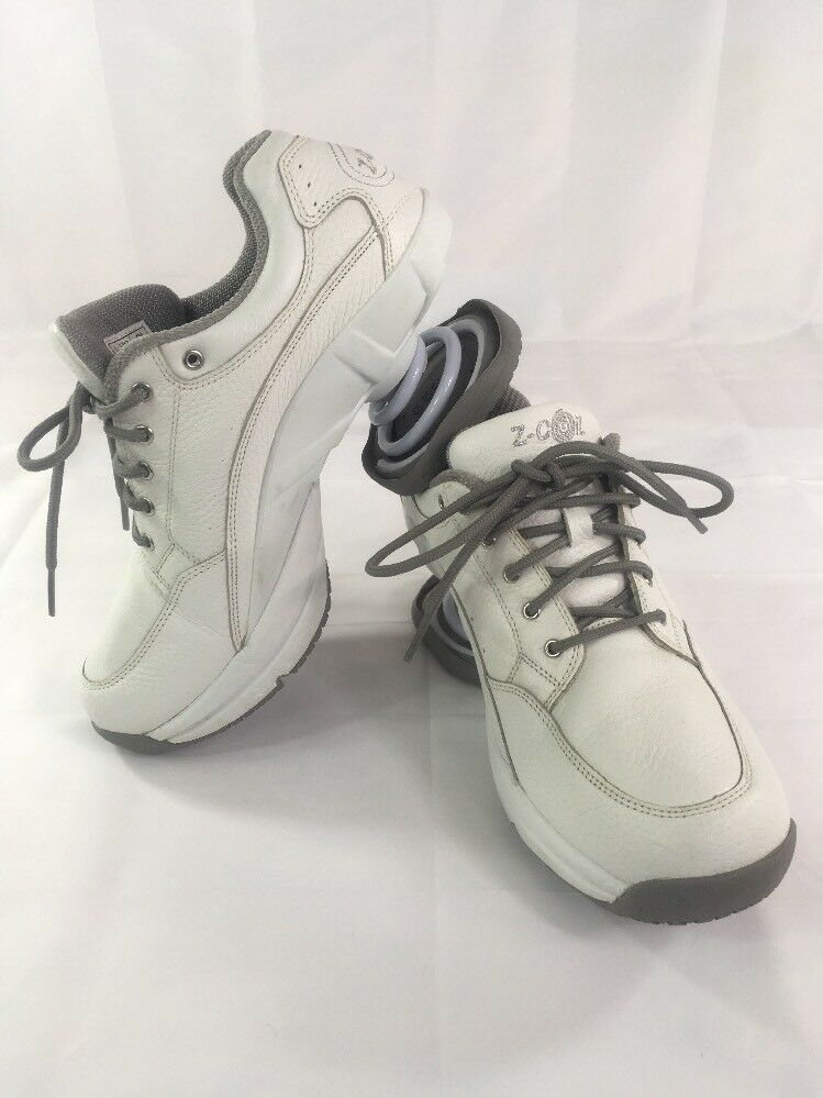 Z-Coil Legend White Leather Sneakers Pain Relief Shoes Womens Sz 9 US Comfort