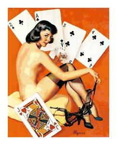 Strip-Poker-Player-Retro-PinUp-Girl-DIGITAL-Counted-Cross-Stitch-Pattern-Chart
