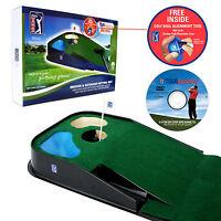 Pga Tour Was £60 Indoor Outdoor Putting Mat Golf Put Aid Auto Golf Ball Return