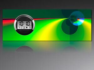 6124 Dixtime Digital Designer Wanduhr, Moderne Wohnraumuhr 35x100cm Warmes Lob Von Kunden Zu Gewinnen