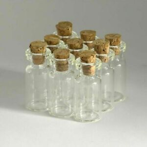 Clear Glass Bottles With Corks Sample Small Vials Jars Sample Empty Wholesale