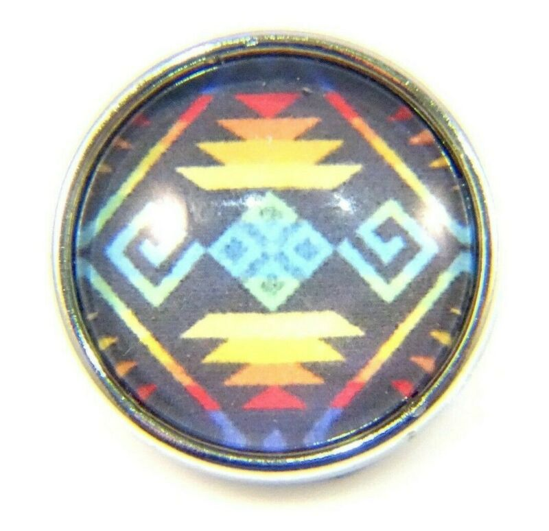 Noosa Style Chunks Ginger Snap On Jewellery Button Charms Aztec Tribal 18mm