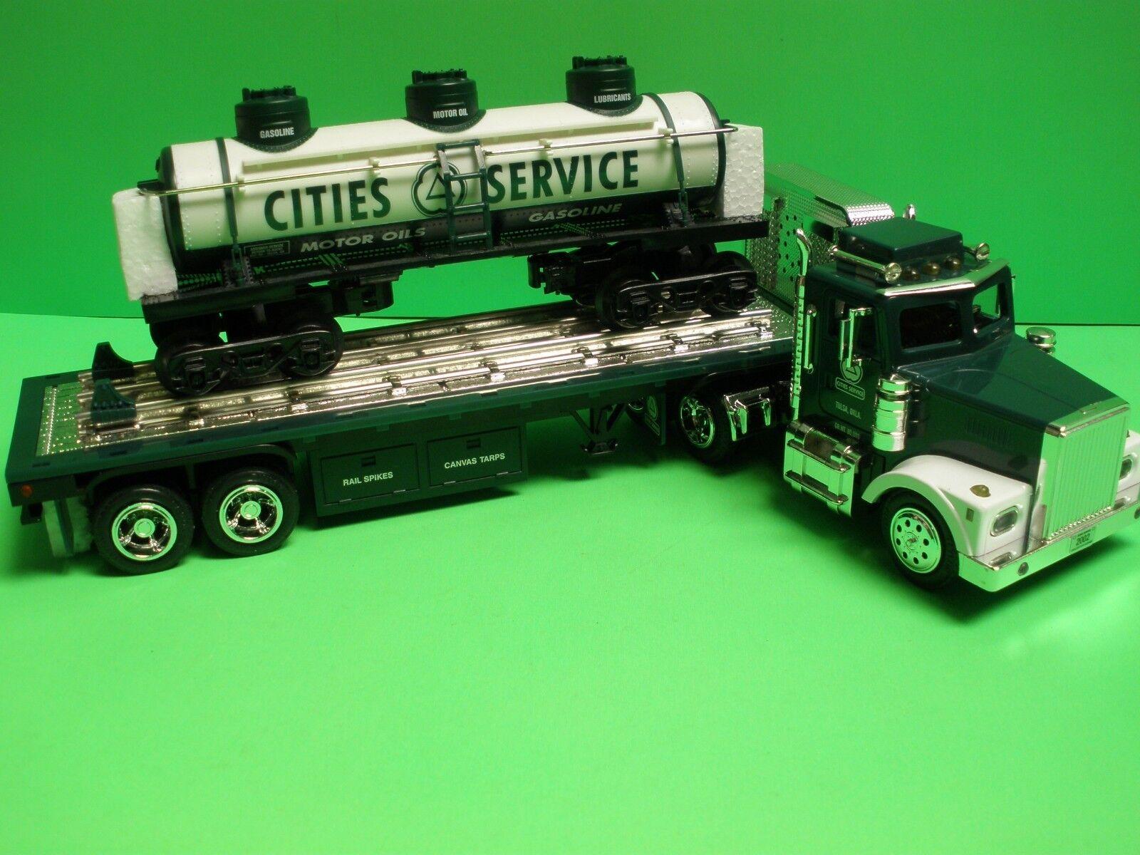 Cities Service Tracteur Remorque Camion Citgo 3 Dôme TANKER train voiture Taylor camions