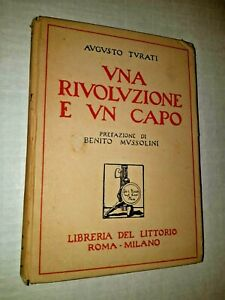 UNA RIVOLUZIONE e UN CAPO, libro 1927 Libreria Littorio MUSSOLINI CAMBELLOTTI