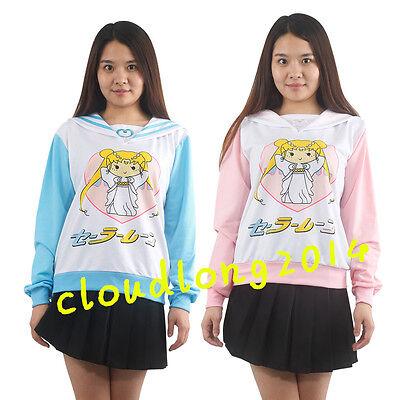 Sailor moon harajuku Mercur Cute Sweater Coats cosplay costume Top Uniform New