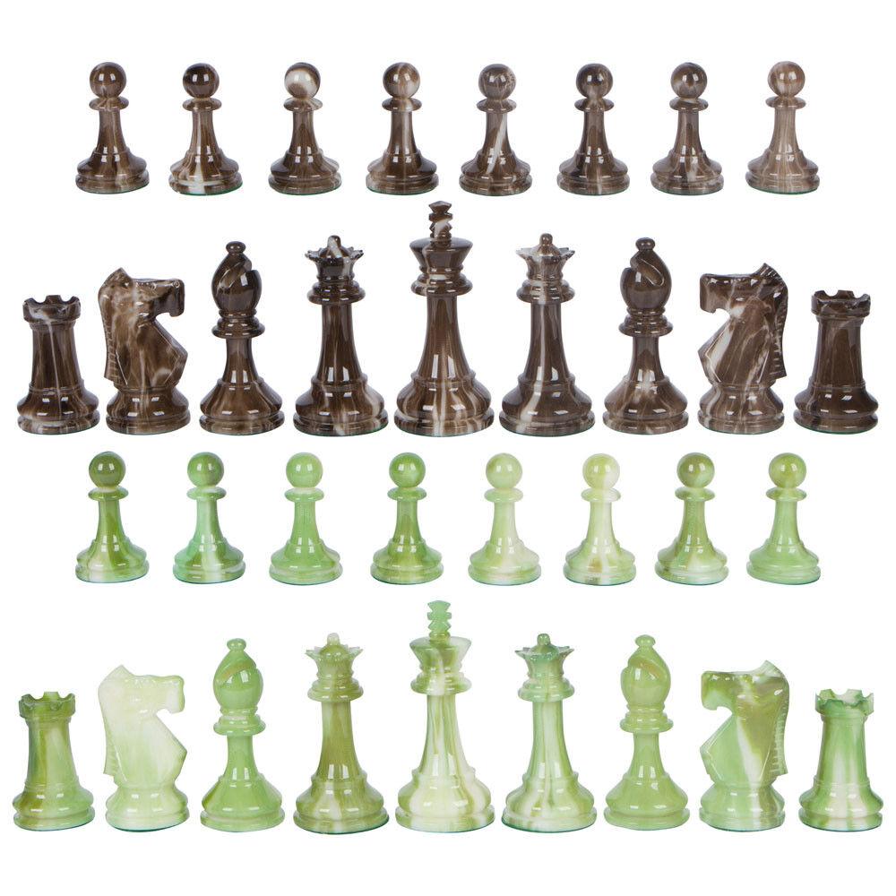 Conjunto de piezas de juego de ajedrez ponderada Zemi-reinas extra-grande 3.7  King-no Board
