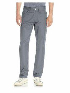 NEW-Calvin-Klein-Men-039-s-Slim-Fit-Logo-Patch-Chino-Pants-Grey-Sz-34w-x-30L