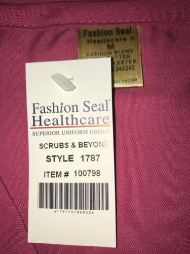 Details about  /Fashion Seal Scrub Top MediumCranberry Unisex Men/'s Women/'s