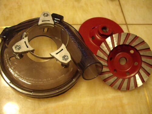"""5/"""" Convertible Dust Shroud for Grinders 2 PCS 5 Inch Concrete Cup Wheel sander"""