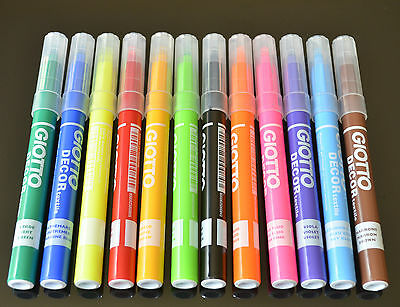 Giotto Decor Materials Versatile Fibre Marker pens