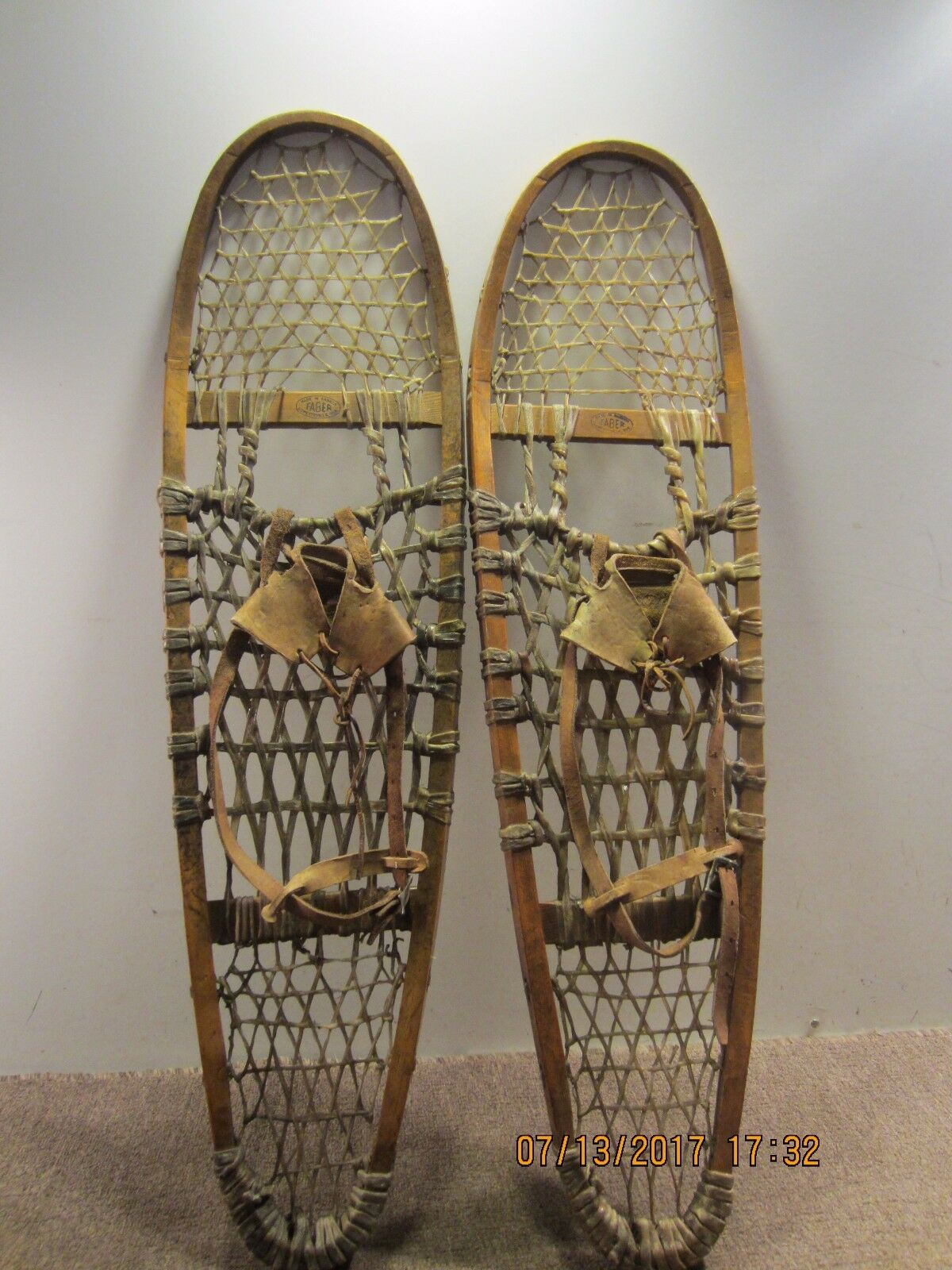 PAIR OF  VINTAGE AUTHENTIC CANADIAN SNOW SHOES  best price
