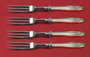 """Other Antique Furniture Furniture Delicious Stradivari By Wallace Sterling Silver Fruit Fork Set 4-piece Hhws 6"""" Custom Made"""