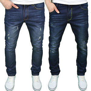 Soulstar Mens Designer Slim Fit Distressed Wash Denim Jeans - BNWT ...