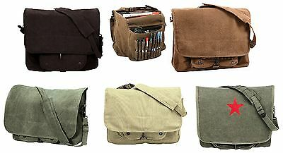 Vintage Canvas Shoulder Bags - Stylish Work School Classic Messenger Bag Packs