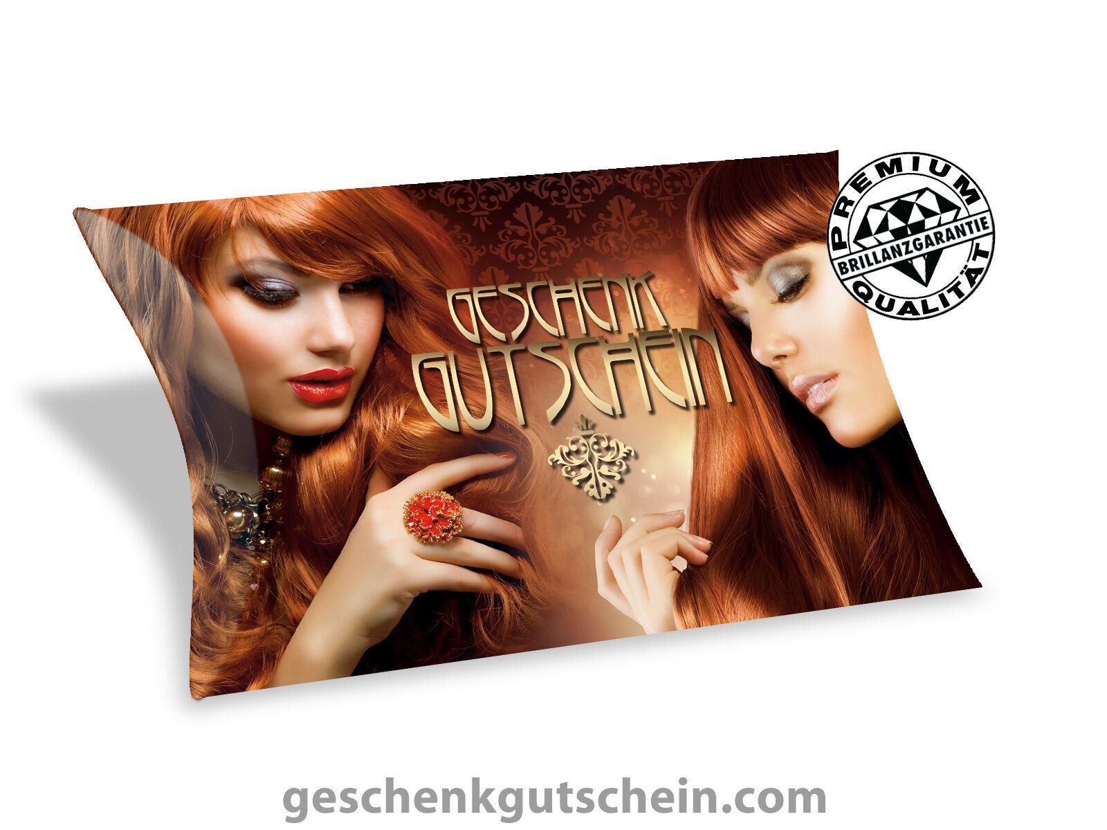 Hochwertige Gutschein Box für Friseure Coiffeure Hairstylisten K351  | Elegantes und robustes Menü  | Up-to-date Styling