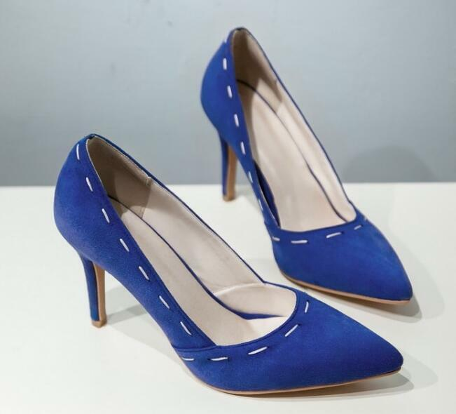 Dekolleté pumps schuhe stilett frau blau cm weiß absatz 9 cm blau 8572 482062
