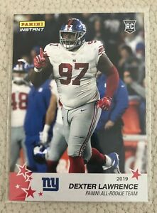 #14 Dexter Lawrence Giants RC Limited - 2019 Panini Instant All-Rookie Team Card