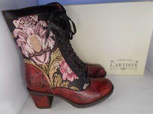 L-039-ARTISTE-by-Spring-Step-Casandra-Black-Boots-Women-039-s-Sz-9-5-10-US-New-In-Box