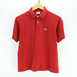 Lacoste-Women-039-s-Polo-Shirt-Size-16-in-Red-Cotton-Short-Sleeve-EF4516