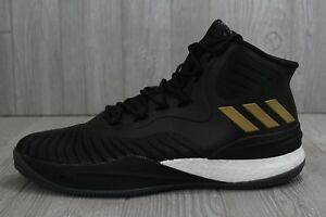 31 New Mens Adidas D Rose VIII 8 Boost Basketball Shoes Black Gold ... bd2c830cc