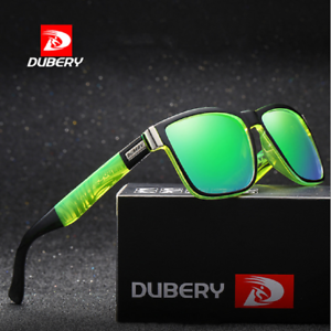DUBERY Polarized Sunglasses Men Square Cycling Sport Driving Fishing UV400