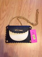 Betsey Johnson wavy Days Cream & Black Crossbody Phone Case