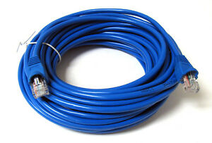 50FT-50-FT-RJ45-CAT5-CAT5E-Ethernet-LAN-Network-Cable-Blue-Brand-New-15M