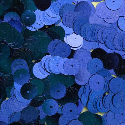 Goed 8mm Flat Sequin Paillettes ~ Royal Blue Metallic ~ Round Disc ~ Made In Usa.