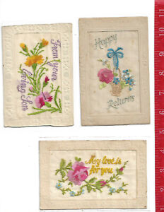 vintage-lot-3-EMBROIDERED-DESIGNS-post-cards-early-1900-039-s-5